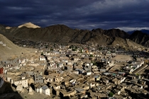 Leh the biggest city of the cold desert of Ladakh