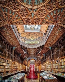 Lello Bookstore Porto Portugal - built in