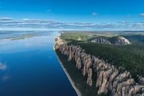 Lena - a river in Eastern Siberia Russia flows into the Laptev Sea of the Arctic Ocean The length together with the delta is  km