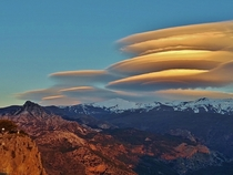 Lenticular clouds just before sunset Sierra Nevada Spain OC