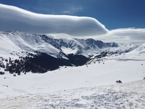 Lenticular clouds over Arapahoe Basin from Loveland Pass - Colorado USA