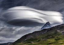 Lenticular clouds over Kamchatka peninsula - Russia - Photograph by Vladimir Voychuk