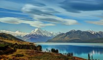 Lenticular clouds over Mount Cook in New Zealand a few days ago