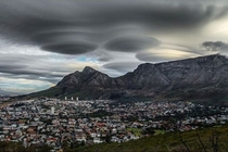 Lenticular UFO clouds over Cape Town