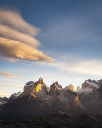 Lenticulars over the Paine Massif Chile