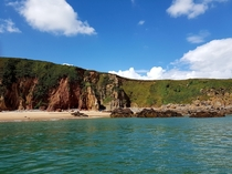 Less exotic than other places but still beautiful Caldey Island South West Wales UK