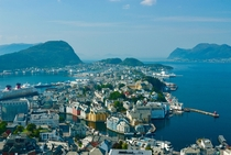 lesund Norway A colorful quaint seaside city