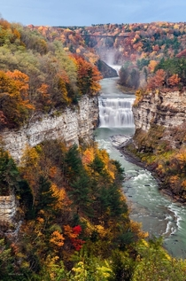 Letchworth State Park Genesse Falls NY  By Mark Papke
