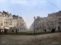 Leuven belgium in  A time when it was still bilingual french and dutch colorized