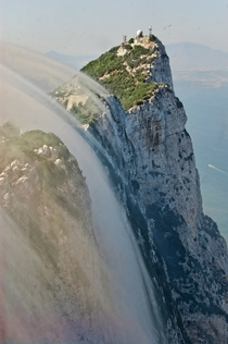 Levant clouds forming against the eastern cliffs of the Rock of Gibraltar photo by Mac Dor