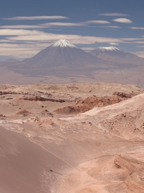 Licancabur volcano seen from the Atacama Desert OC