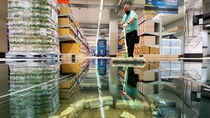 Lidl store in Dublin has a glass floor to show the archaeological heritage of the stores site