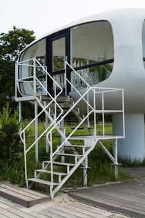 Lifeguard base in Binz Rgen Germany by Ulrich Mther star Architect of the GDR