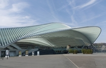Lige-Guillemins Railway Station by Santiago Calatrava Lige Belgium inaugurated
