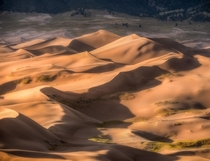 Light lines and textures at Great Sand Dunes National Park in Colorado