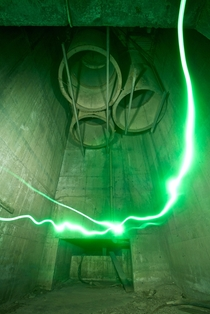 Light Painting in an Abandoned Fan Chamber Australia