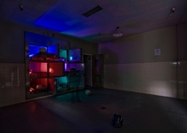 Light painting the meat lockers at a local abandoned hospitalOC x