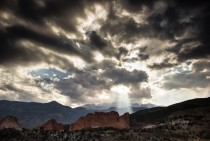 Light through the Clouds over Pikes Peak