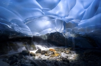 Light Well within the Mendenhall Glacier Alaska  photo by Sean Yan