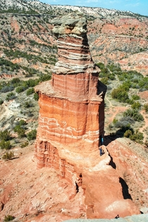 Lighthouse formation at Palo Duro Canyon x