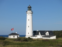 Lighthouse near Hirtshals in Denmark