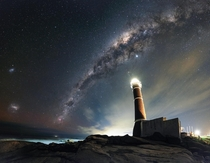 Lighthouse the Milkyway and the Magellanic Clouds