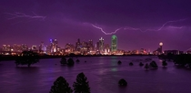 Lightning above Dallas by reddits Lostchild