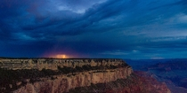 Lightning at the Grand Canyon - just a simple single lucky exposure