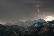 Lightning in Tatra Mountains Poland