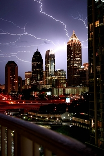 Lightning over Atlanta GA