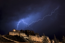 Lightning Shot of the Potala PalaceLhasaTibet Autonomous RegionChina