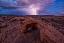 Lightning Storm - Dixie Rock St George Utah
