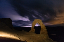 Lightning storm in Arches National Park