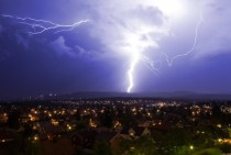 Lightning storm over Oslo Norway