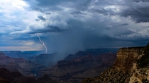 Lightning strike in the Grand Canyon