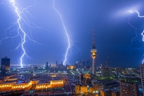 Lightning strikes Kuwait City Kuwait Photographer Mohammed ALSULTAN