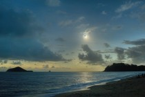 Like a Diamond in the Sky Streaming past the Moons edge the last direct rays of sunlight produced a gorgeous diamond ring effect in this scene from Ellis Beach between Cairns and Port Douglas QLD Australia during Wednesdays eclipse