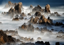 Like an oriental painting - the shores of South Korea  photo by Jaewoon U