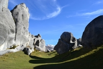Limestone boulders in Castle Hill New Zealand
