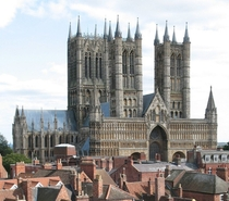 Lincoln Cathedral - Lincoln England - Construction began in  in the Early Gothic style - For hundreds of years the cathedral held one of the four remaining copies of the original Magna Carta