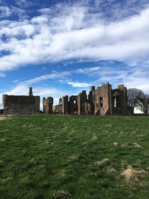Lindisfarne Priory on Holy Island Northumberland Built in  AD