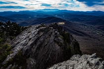 Linville Peak Grandfather Mountain NC USA looking towards Mt Mitchell and the Black Mountains