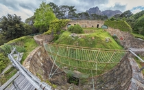 Lion enclosure at the abandoned Groote Schuur Zoo Cape Town link below