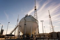 Liquid Oxygen storage tank at Space Launch Complex  Cape Canaveral Air Force Station