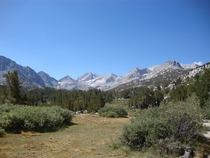 Little Lakes Valley in Californias Sierra Nevada Mountains  OC