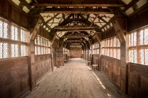 Little Moreton Hall The Long Gallery  by michael-d-beckwith