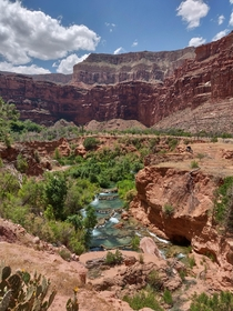 Little Navajo Falls Havasupai Reservation AZ USA