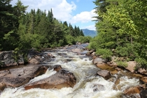 Little Niagara Falls at Baxter State Park in Maine