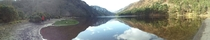 Little panorama I took at the Glendalough Upper Lake here in Co Wicklow Ireland