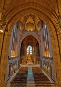 Liverpool Anglican Cathedral in England